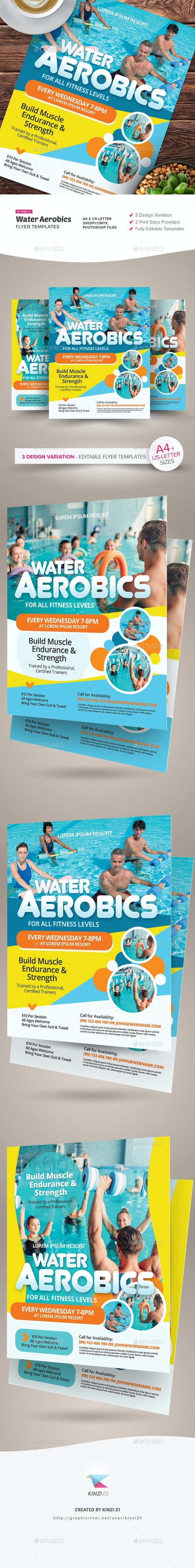 Water Aerobics Flyer Templates - Sports Events