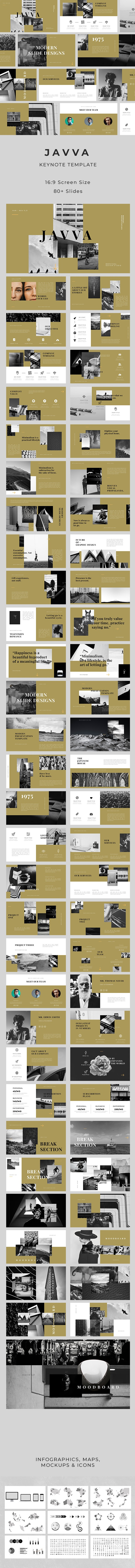 Javva Keynote Template - Creative Keynote Templates