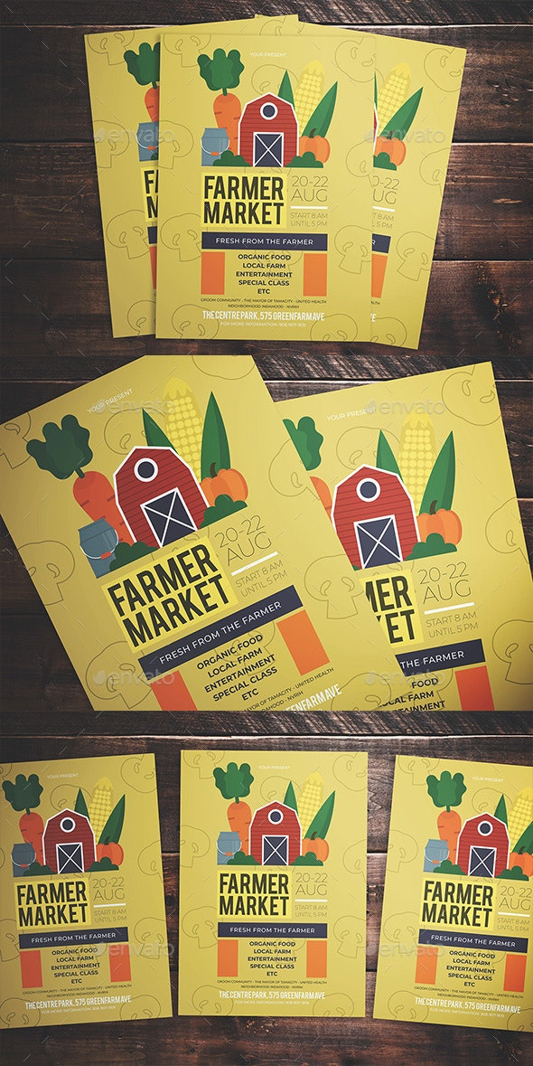 Farmer Market Flyer - Flyers Print Templates