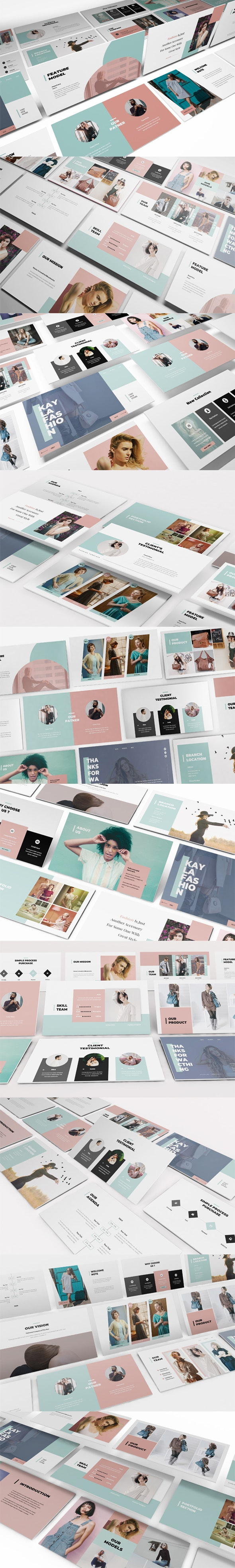 Kayla Fashion Powerpoint Template - PowerPoint Templates Presentation Templates