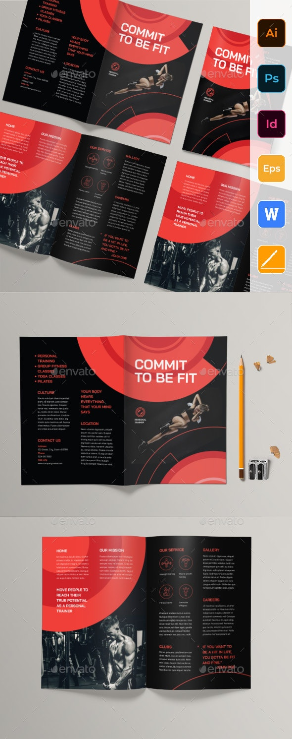 Personal Trainer Bifold Brochure - Corporate Brochures