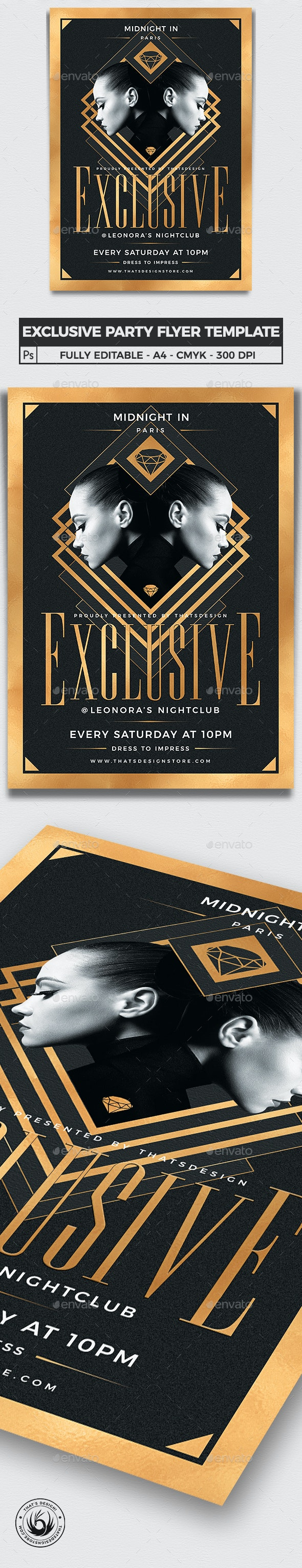 Exclusive Party Flyer Template V2 - Clubs & Parties Events