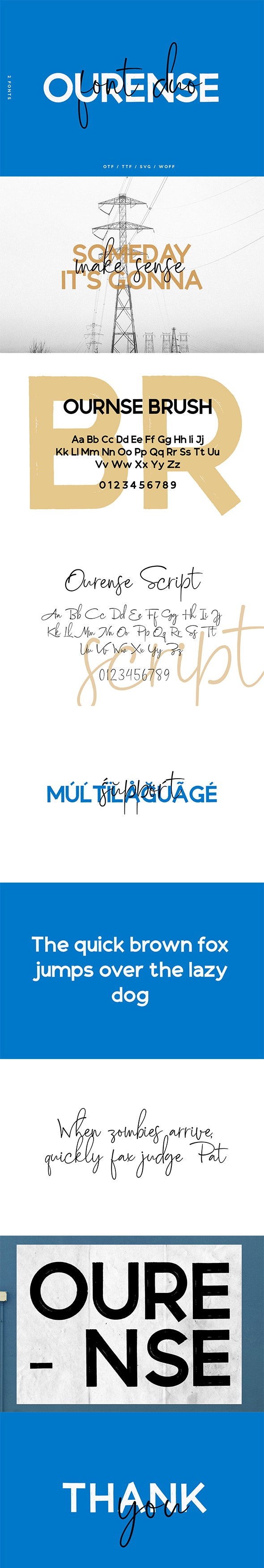 Ourense Font Duo - Handwriting Fonts