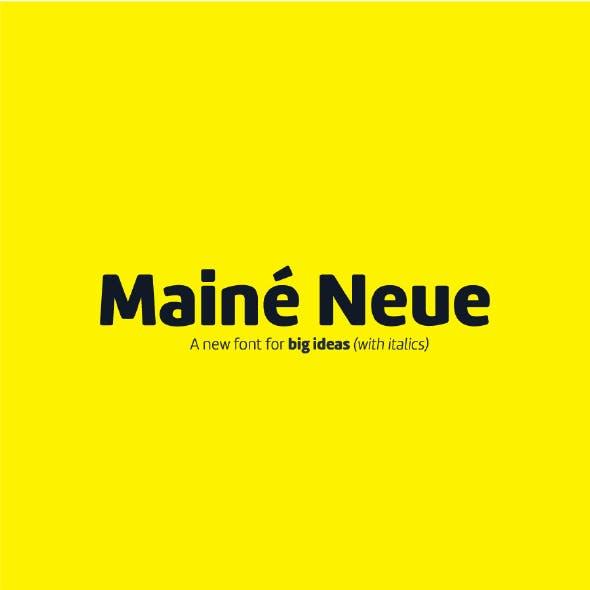 Maine Neue Sans Serif Font