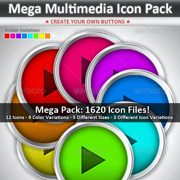 Mega Multimedia Icon Pack