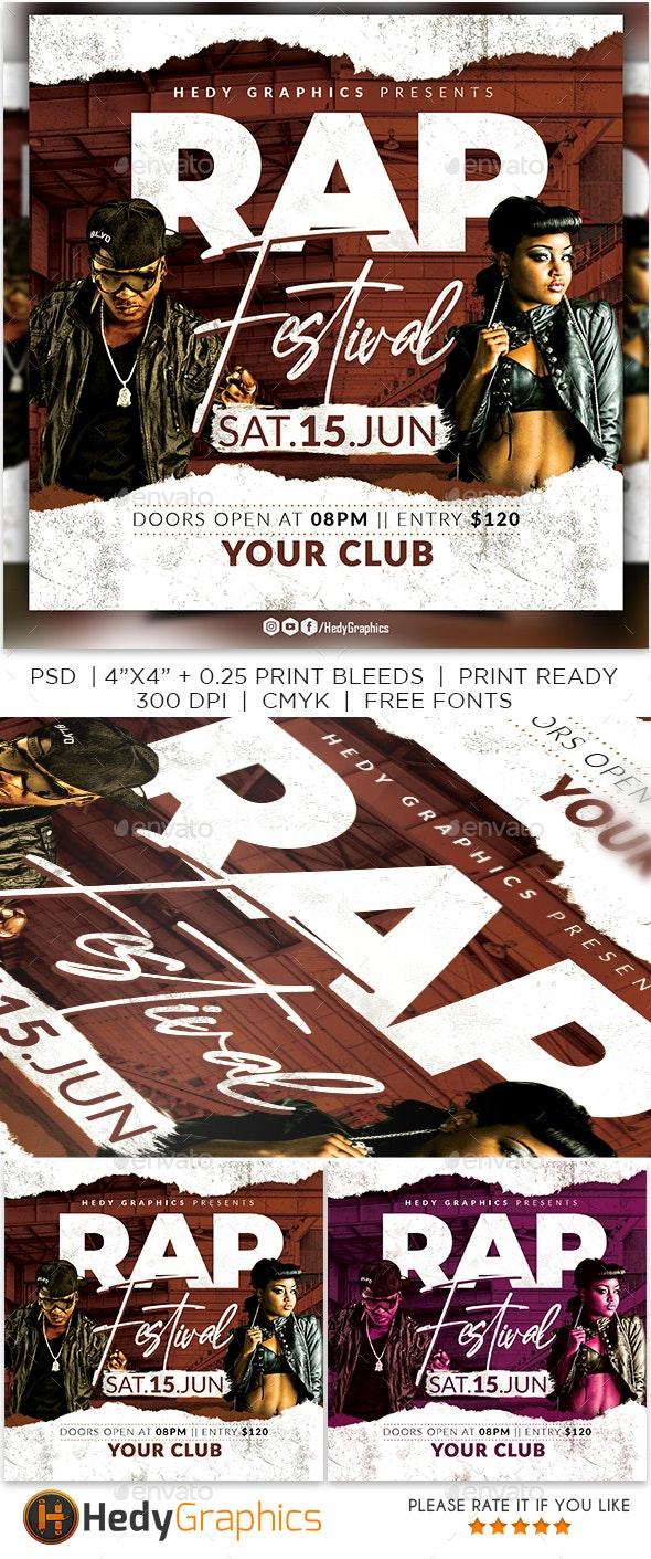 Rap Festival Flyer - Clubs & Parties Events