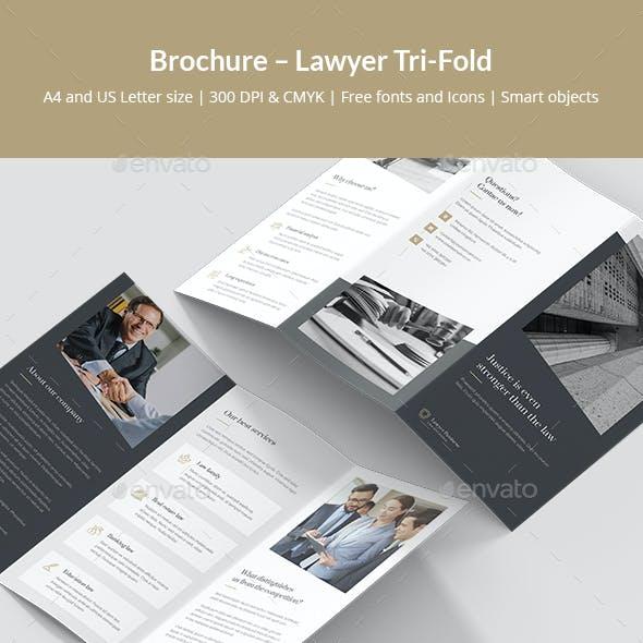 Brochure – Lawyer Tri-Fold