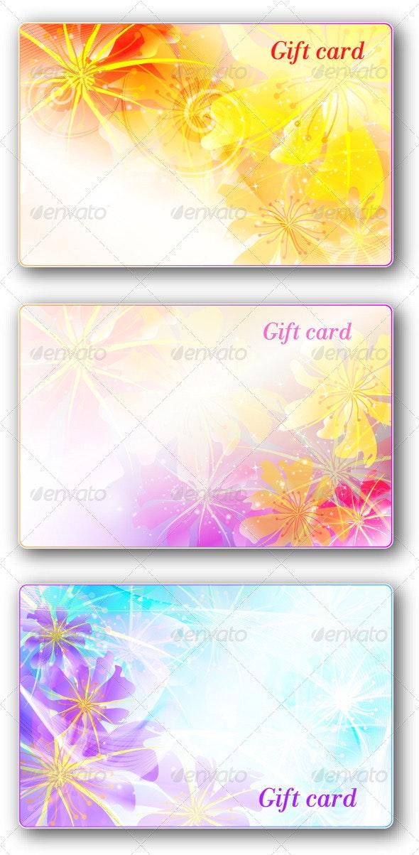 Gift cards pack3(flower design) - Flourishes / Swirls Decorative