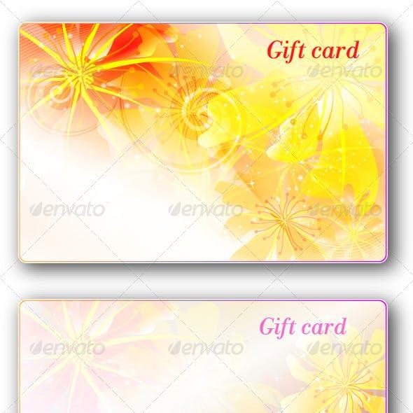 Gift cards pack3(flower design)