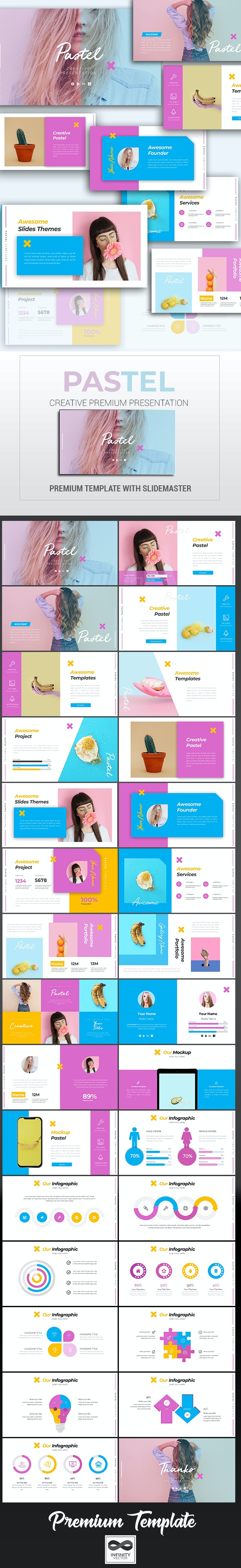 Pastel Creative Keynote - Keynote Templates Presentation Templates