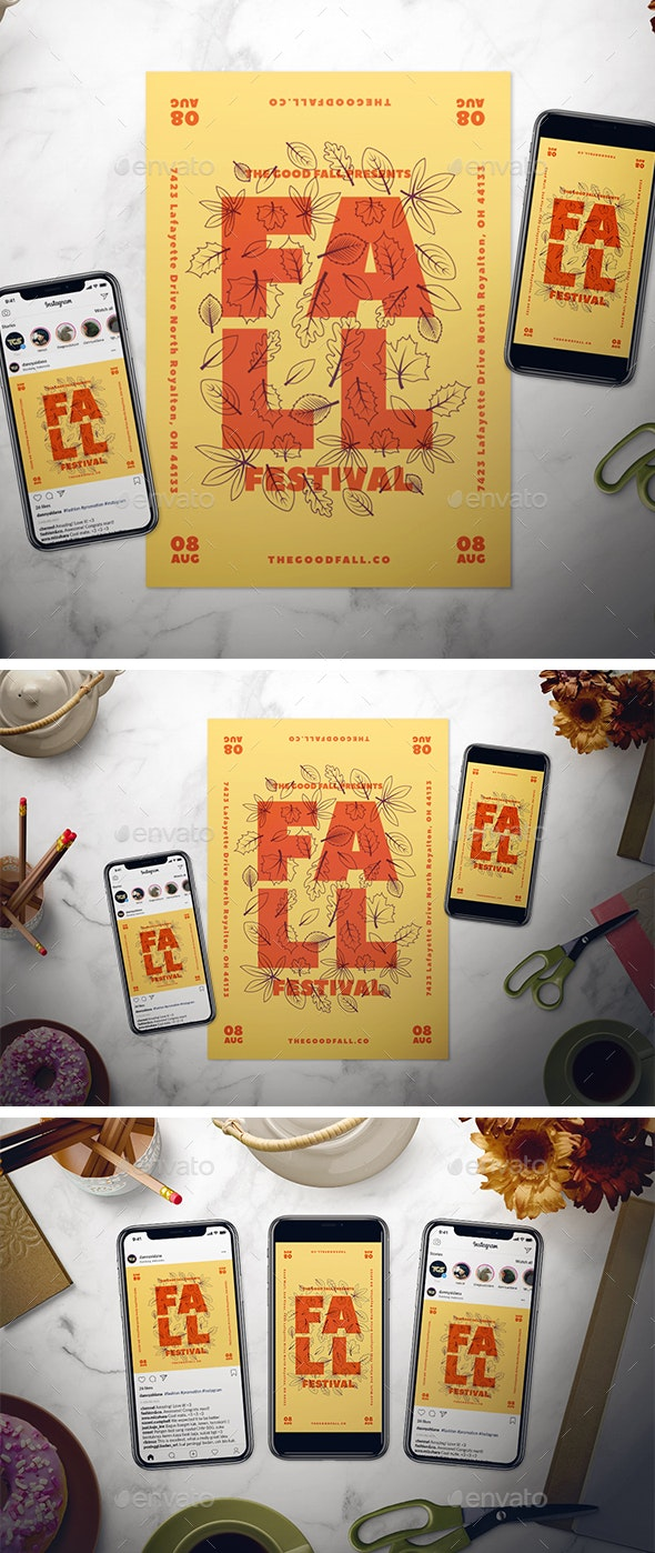 Fall Event Flyer Set - Events Flyers