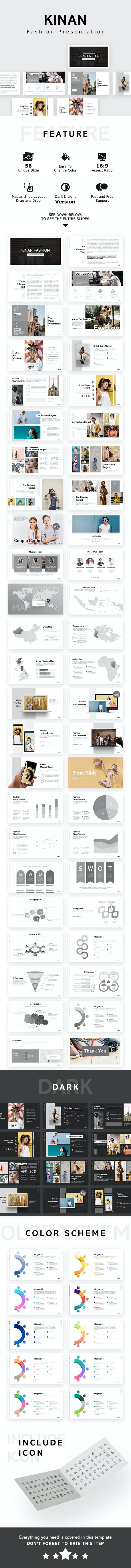 Kinan Fashion Keynote Template - Keynote Templates Presentation Templates