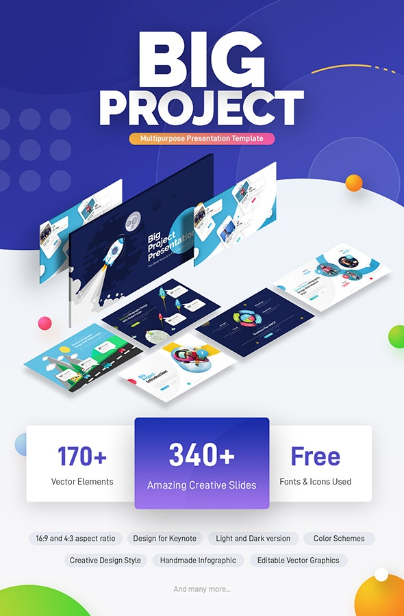 Big Project - Multipurpose Infographic Keynote Template - Keynote Templates Presentation Templates