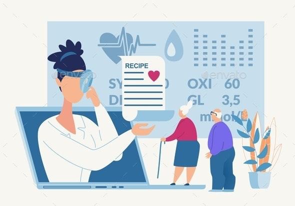 Advertising Poster Drug Formulations Cartoon. - Health/Medicine Conceptual