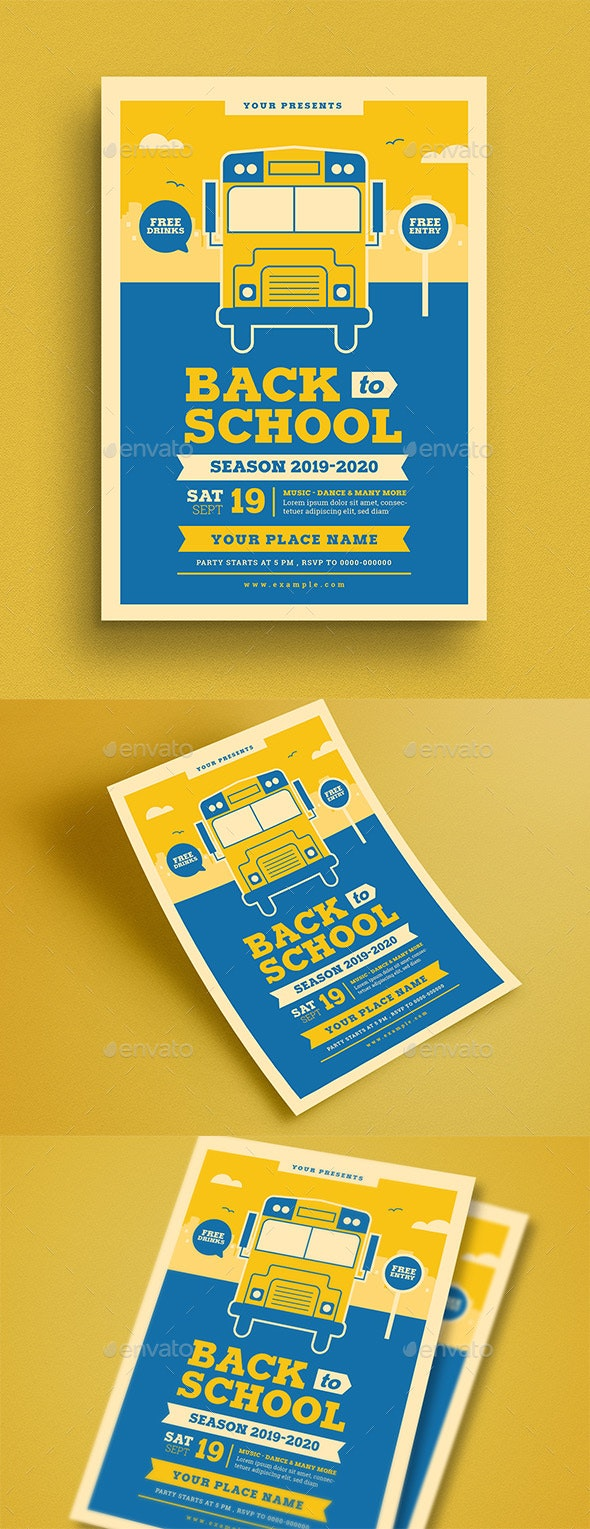 Back To School Event Flyer - Flyers Print Templates