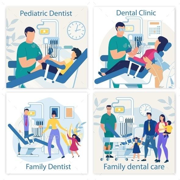 Bright Banner is Written Pediatric Dentist Flat. - Health/Medicine Conceptual