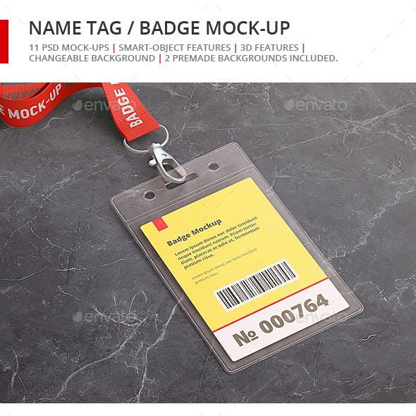 Name Tag / Badge Mock-up