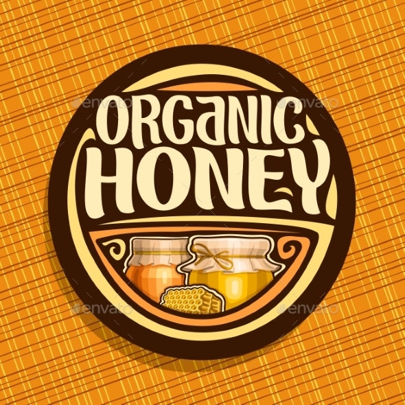Vector Logo for Organic Honey - Food Objects