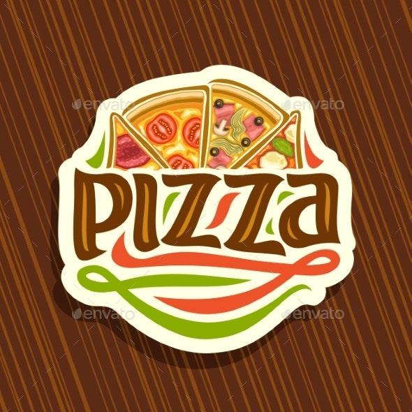 Vector Logo for Italian Pizza - Food Objects