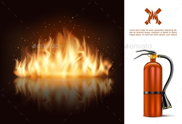 Hot Burning Glowing Concept - Miscellaneous Vectors
