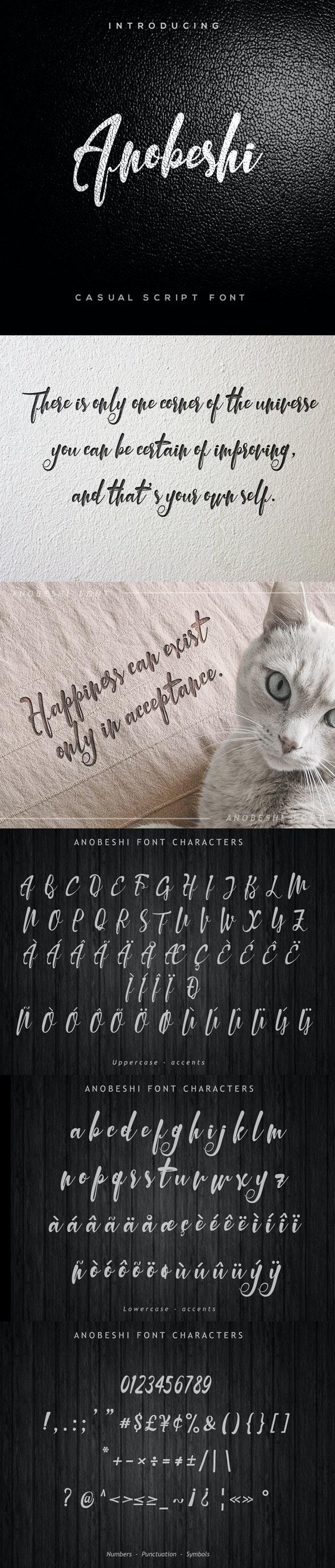 Anobeshi Font - Script Fonts