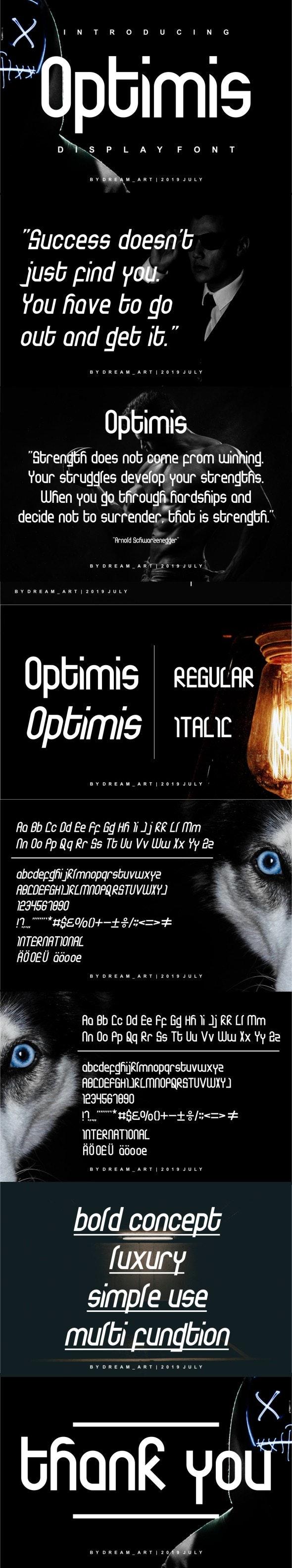 Optimis - Sans-Serif Fonts