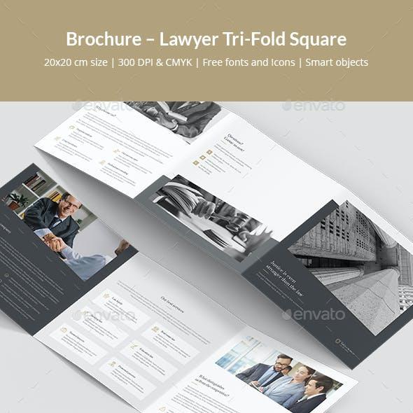 Brochure – Lawyer Tri-Fold Square