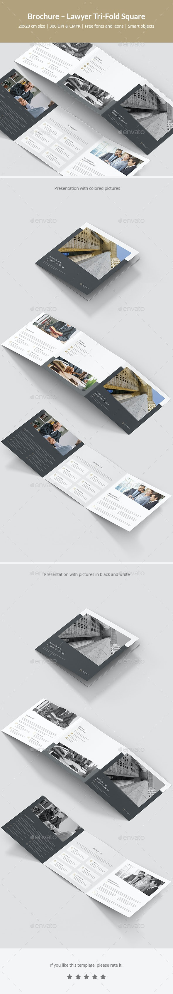 Brochure – Lawyer Tri-Fold Square - Corporate Brochures