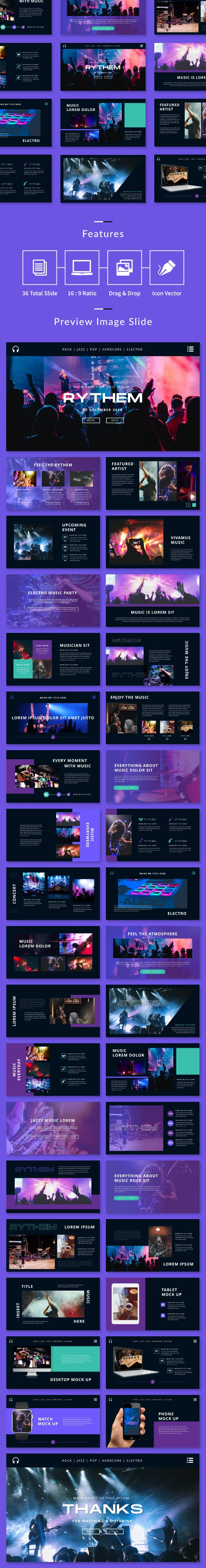Rythem Music Event - PowerPoint Template - Creative PowerPoint Templates