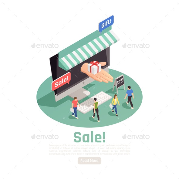 Electronic Store Sale Background - Retail Commercial / Shopping