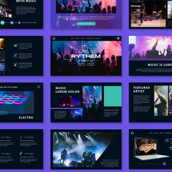 Rythem Music Event - Google Slide Template