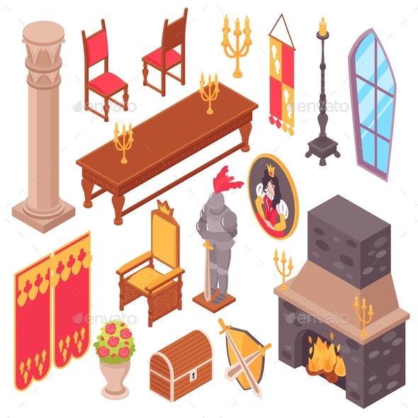 Medieval Castle Furniture Set - Miscellaneous Vectors