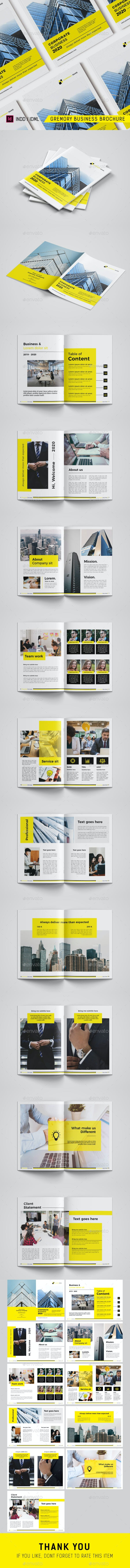 Gremory Corporate Business Brochure Template - Corporate Brochures