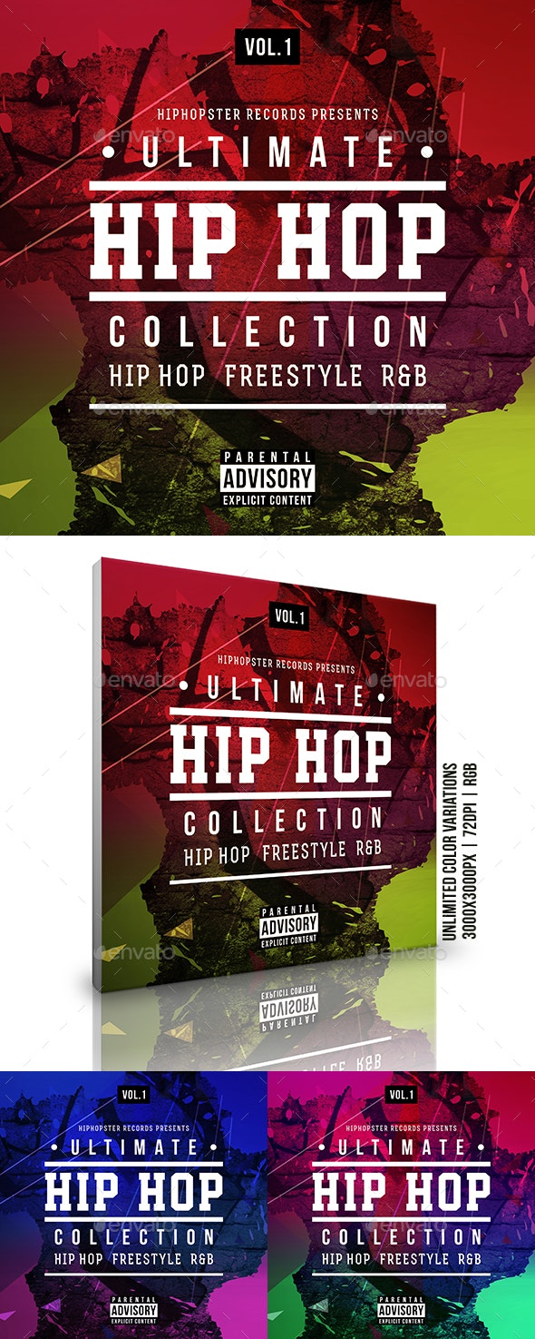 Hip-Hop Music Collection Album Cover Artwork Template - Miscellaneous Social Media