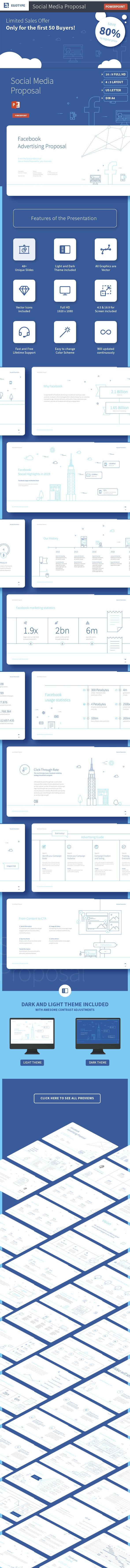 Social Media Presentation Template - Business PowerPoint Templates