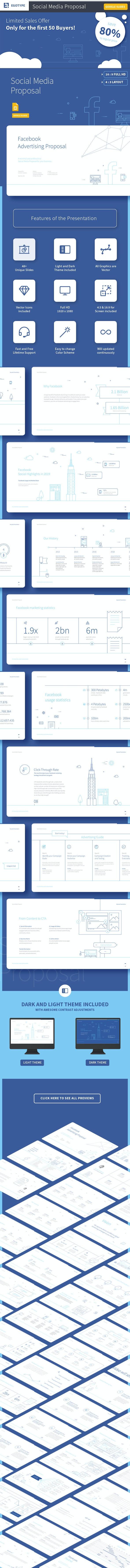 Social Media Presentation Template - Google Slides Presentation Templates