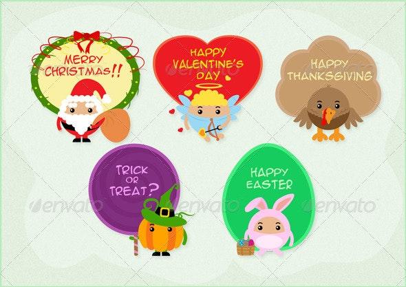 Mini Festive Greetings - Seasons/Holidays Conceptual