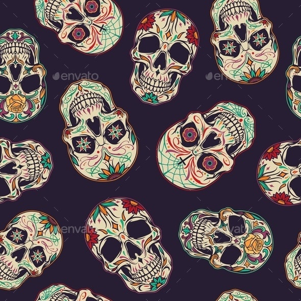 Day of the Dead seamless pattern - Miscellaneous Vectors