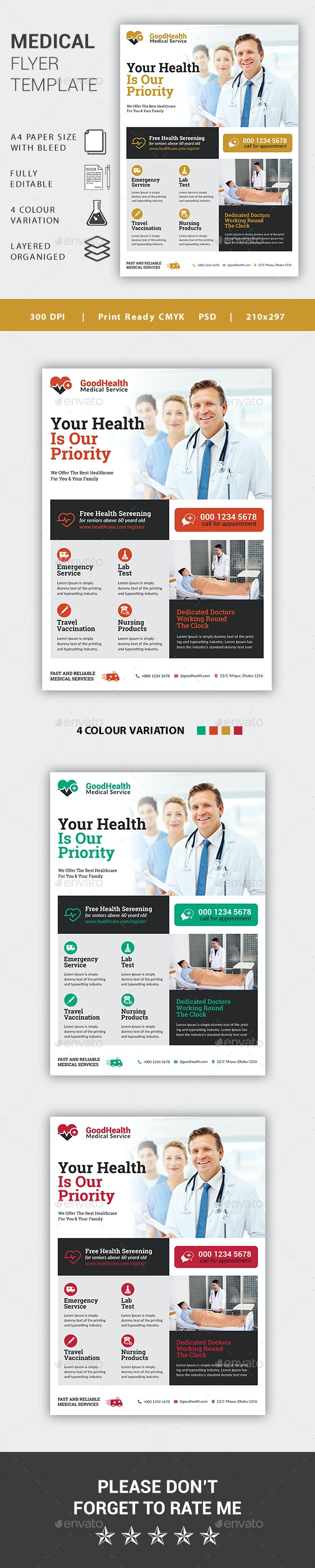 Medical Flyer Template - Corporate Business Cards