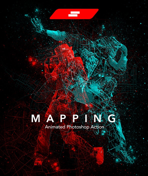 Gif Animated Mapping Photoshop Action - Photo Effects Actions