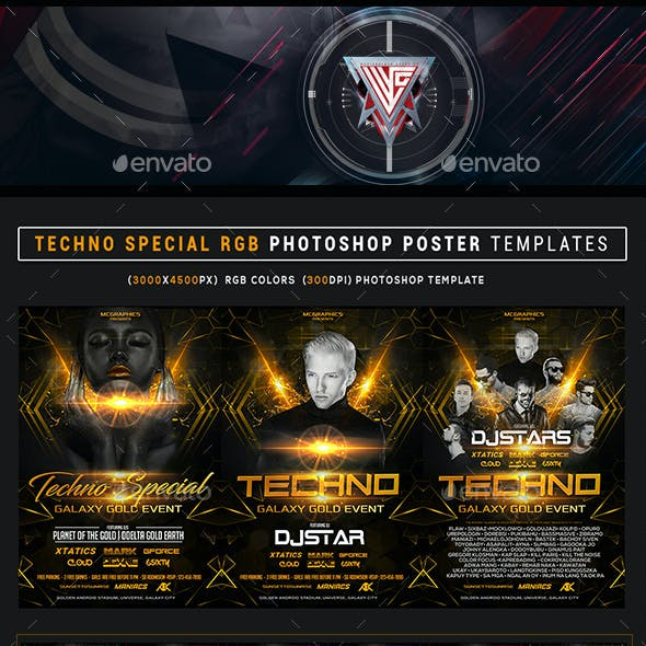 Techno Special RGB Photoshop Template