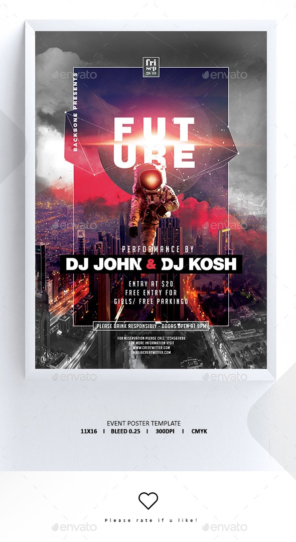 Guest Dj Poster / Flyer Template - Clubs & Parties Events