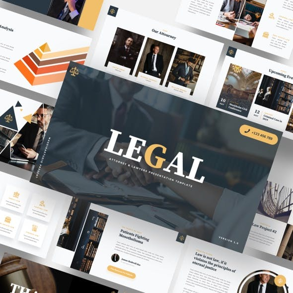LEGAL - Attourney & Lawyer Powerpoint Template