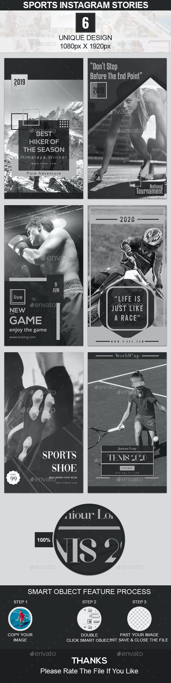 Sports Instagram Stories - Social Media Web Elements