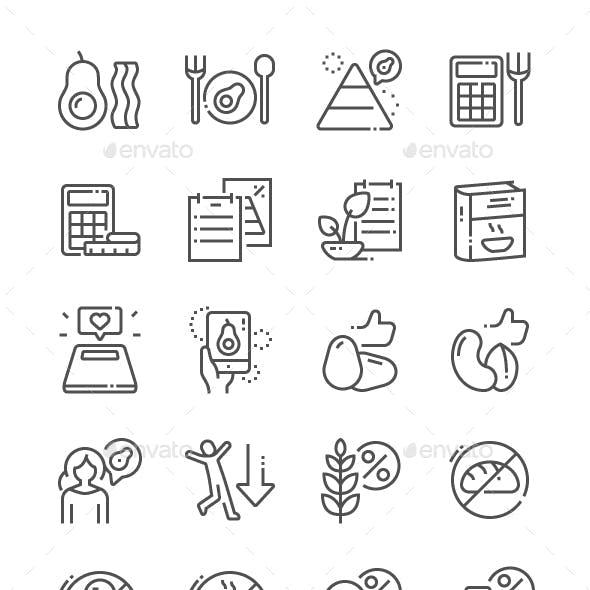 Keto diet Line Icons