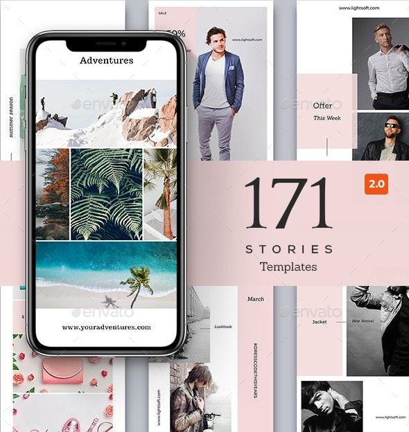 Instagram Stories Bundle - Social Media Web Elements