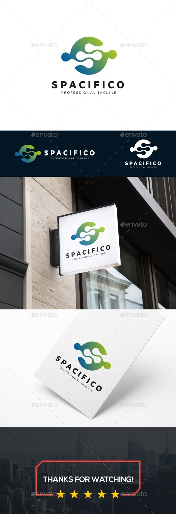 S Letter - Spacifico Logo - Letters Logo Templates