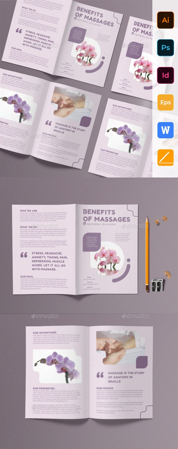 Massage Bifold Brochure - Corporate Brochures