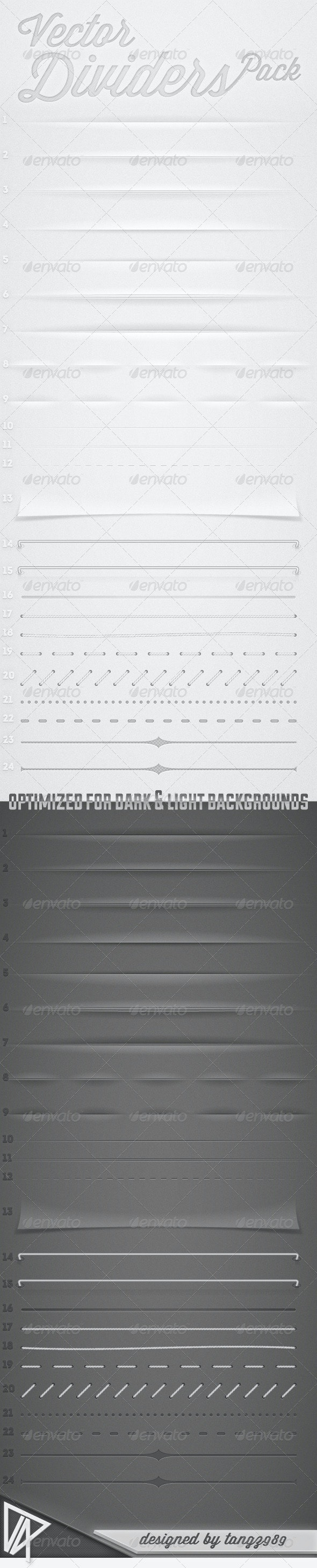 Vector Dividers Pack - Borders Decorative