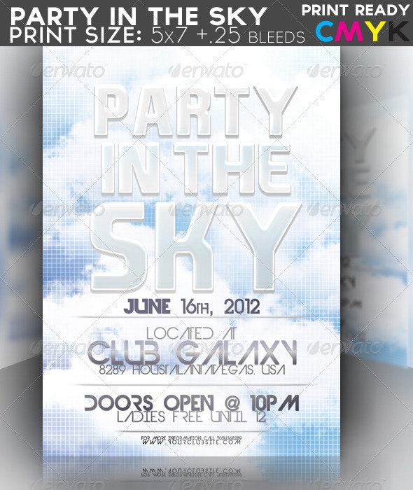 Party In The Sky Flyer - Clubs & Parties Events